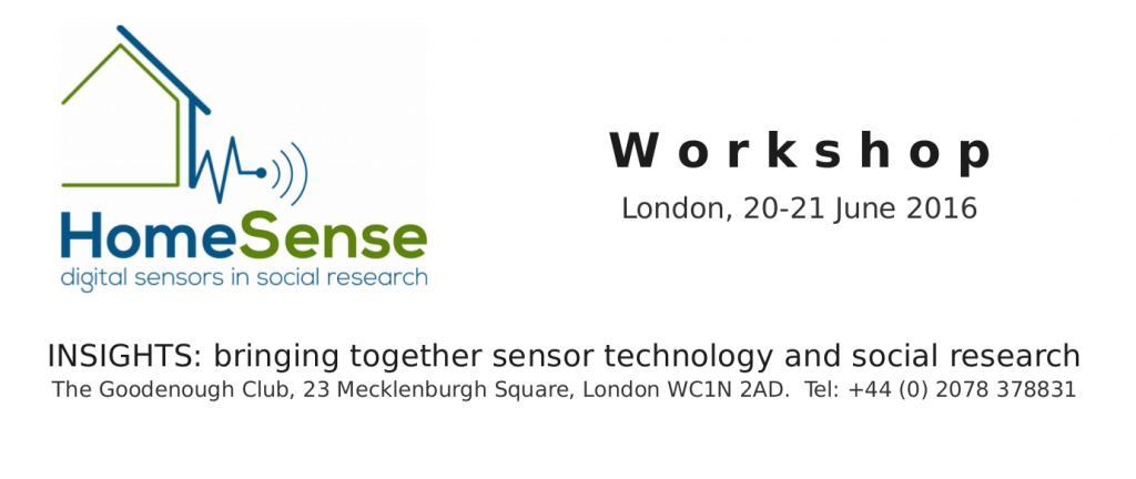 Homesense Workshop 20 and 21 June 2016
